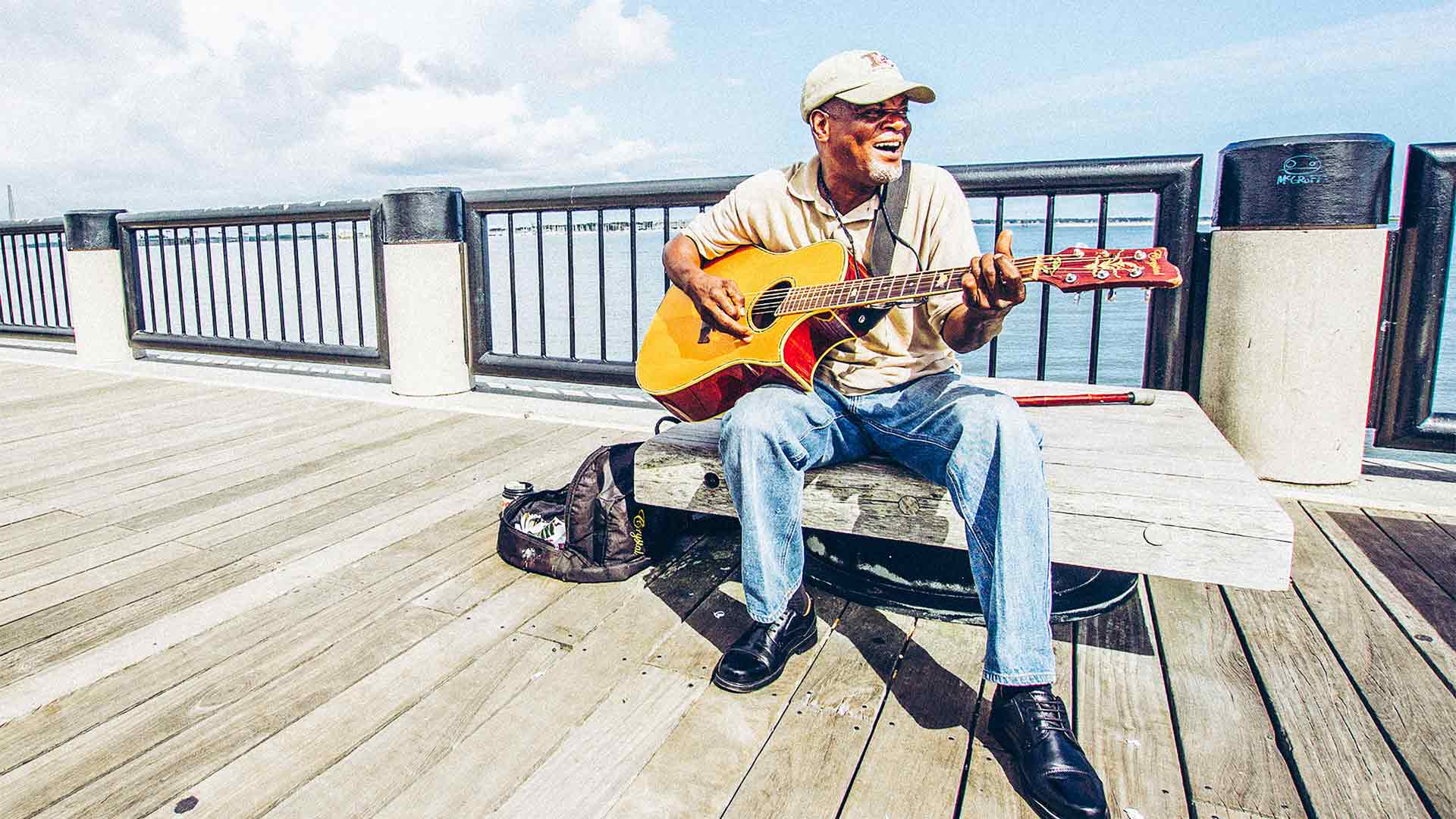 Charleston's waterfront park attracts musicians