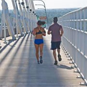 Running the Ravenel Bridge by Ron Cogswell on Flickr