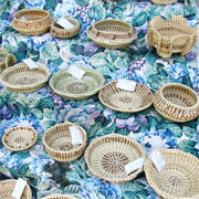 Traditional sweet grass baskets photographed by designatednaphour on Flickr